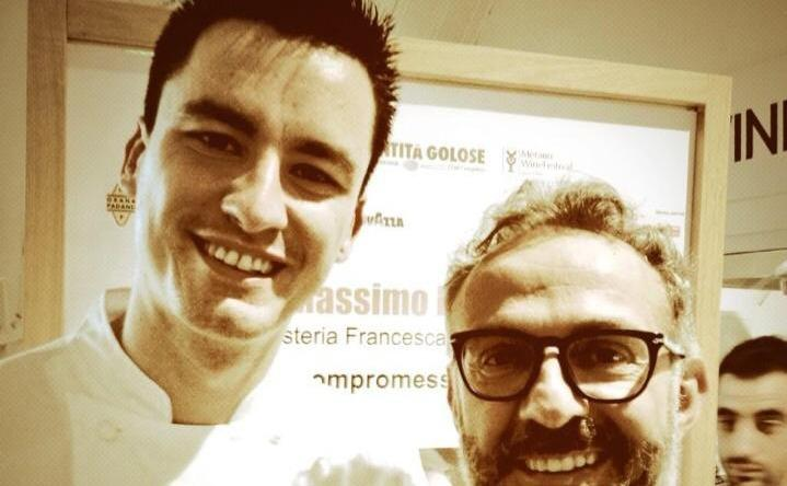 Enrico Panero together with Massimo Bottura. The young chef from Piedmont at restaurant Da Vinci inside Eataly Firenze will be among the protagonists of Identit� Piccanti, within Identit� Milano