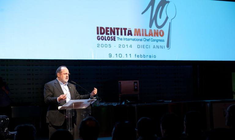 Paolo Marchi during the Identit� Milano 2014 congress. The eleventh edition (February 8-10th 2015) will be preceded by Identit� New York (October 9-12th 2014), the Italian Food & Wine Festival in Chicago (October 14-16th), the presentation of the Guida ai Ristoranti in Milan (November 10th) and the Roma Food & Wine Festival (November 29th-December 1st) (photo credits Brambilla-Serrani)