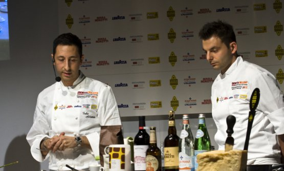 """Fabio Abbattista, lesson """"A healthy Italian flavour"""" atIdentità Milano 2015"""