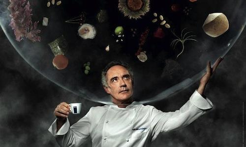 The portrait of Ferran Adri� inside Lavazza's 2014 calendar Inspiring Chefs. The author is Martin Schoeller, the creative agency is Armando Testa