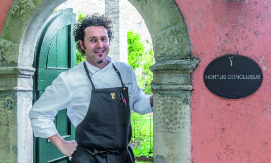 Stefano Baiocco, great chef at Villa Feltrinelli in Gargano, on the Brescian side of Lake Garda. First star in 2007, second in 2014
