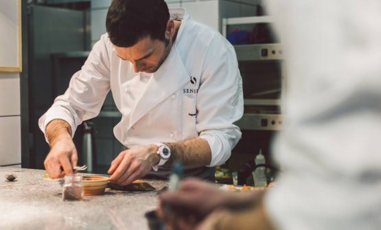 Chef Andrea Camastra, born in 1980 in Monopoli, Apulia, one Michelin star at restaurant Senses in Warsaw