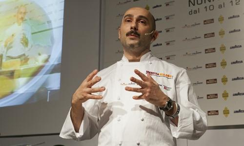 Anthony Genovese, chef at restaurant Il Pagliaccio in Rome, omnivorous cook who this year will be the protagonist at Identità Naturali, on Sunday 6th March 2016. The format dedicated to vegetable cooking debuted in the 2012 edition; yet in 2009, when the congress was still held in Piazza Affari in Milan, a whole day was dedicated to cooking Nature, vegetables and seaweeds