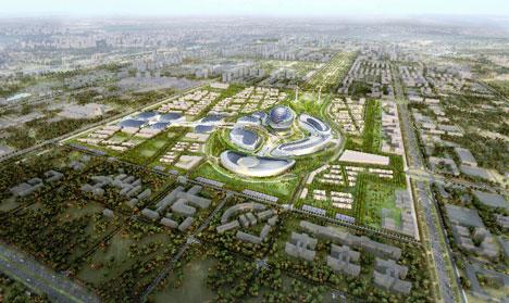 A rendering image of Astana 2017: 25 hectares of exhibition area, 100 countries and 7 million visitors expected over 3 months