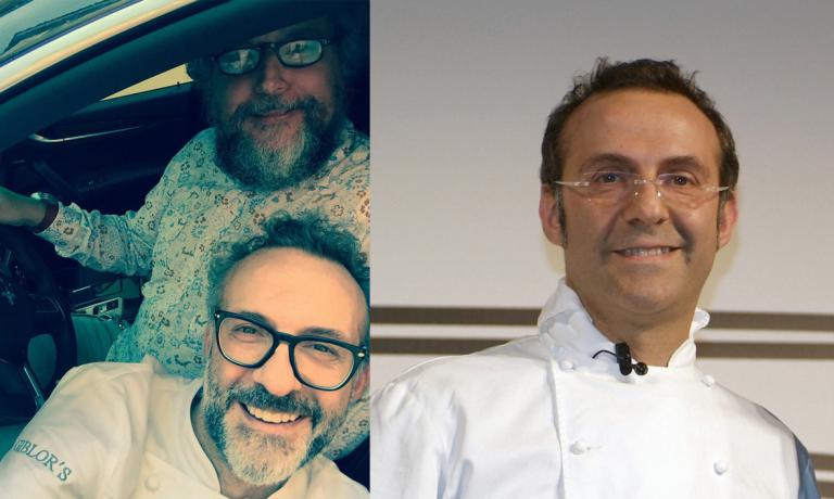 Massimo Bottura in the car with Andrea Grignaffini � chef and food expert share a passion for speed � and at the first participation in Identit� Golose in the winter of 2006 in Milan. Since then, the chef from Modena has always returned