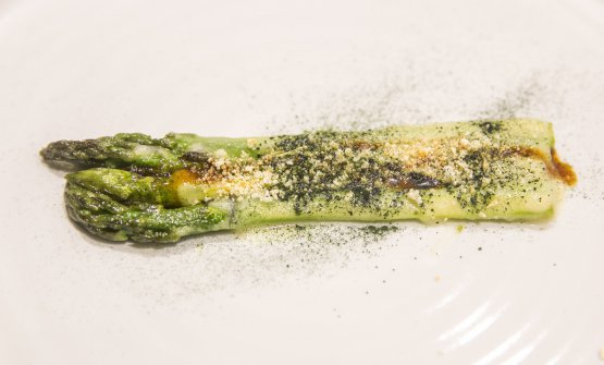 Asparagus, masato and sea truffle (photo by Devid Rotasperti)