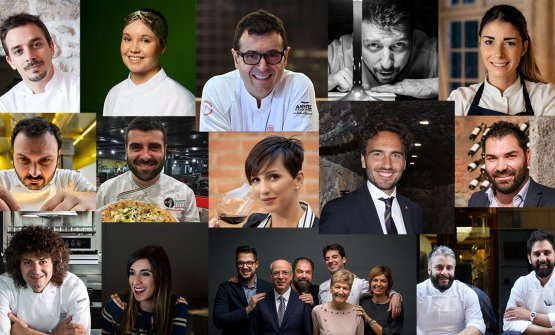 All the Young Stars awarded in the 2019 Guida ai Ristoranti di Identità Golose, presented this morning at Terrazza Gallia in Milan