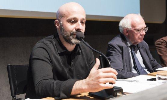 Niko Romito. To his left,Alberto Capatti