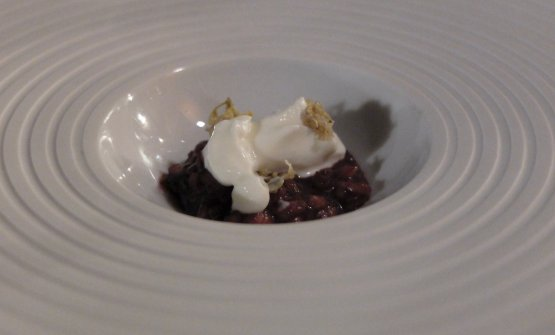 Pilaf rice, elderberry, kefir and elderberry flowers preserved in vinegar