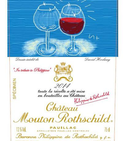 The 2014 label of the famous Château Mouton Rothschild Bordeaux blend will soon be available in Italy. Every year the Rothschild family chooses a great artist to sign it. After Mirò, Chagall, Picasso, Dali and Prince Charles, this year it's the turn of English painter David Hockney