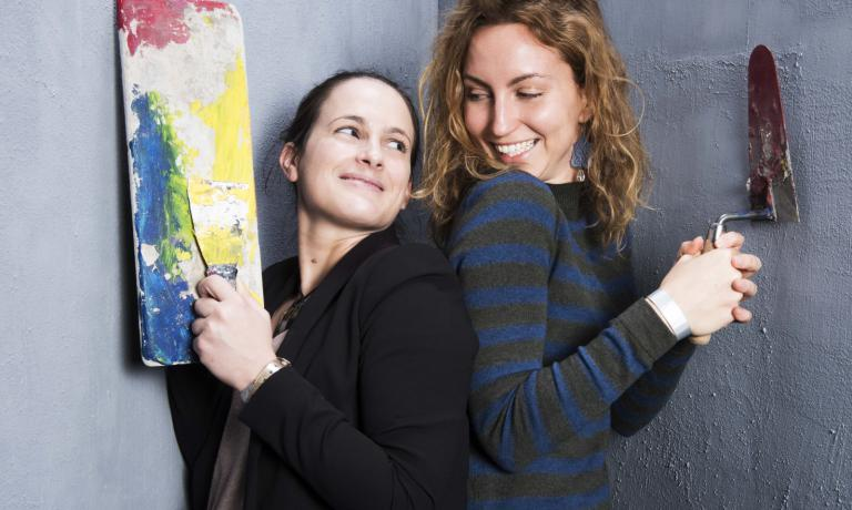 Annalisa Bianchi and Elisa Pella, the pillars in the press office team of Identità Golose, captained by Elisa Zanotti