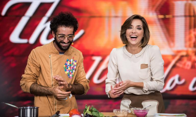 On many occasions chef and pastry chef Franco Aliberti was invited by Lisa in the daily show she runs live from Expo Milano 2015, broadcasted on RAI3 until 5th September from Monday till Friday at 12.30 pm (Credits: The CooKing Show, photos by Abraham Caprani)