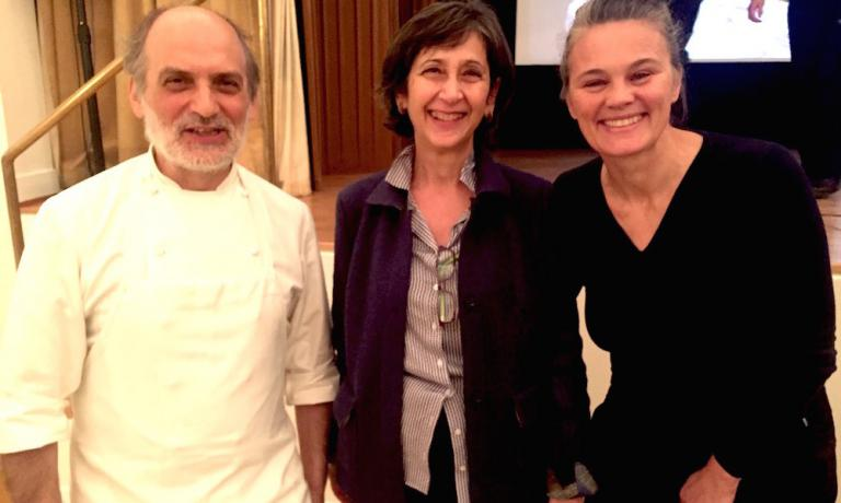 With Virginia Piombo, director of the Italian Institute of Culture in Stockholm and Johanna Ekmark, founder of Caffè Italia