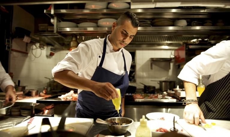 Young chef Guy Gamzu of Aria
