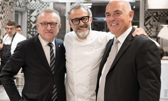 Richard Geoffroy, Massimo Bottura and Carlo Galloni