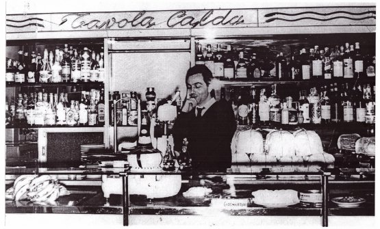 A very young Marchesi at the counter of Mercato, the family hotel-cum-restaurant