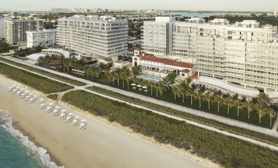 The ocean-facing Four Seasons Hotel at The Surf Club, North Beach, Miami (photo Four Seasons)