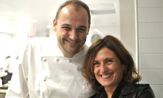 Daniel Humm with Luisa Marchi