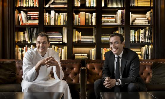 Daniel Humm and Will Guidara, the two protagonists of Eleven Madison Park. The restaurant in New York could climb up the 50 Best list