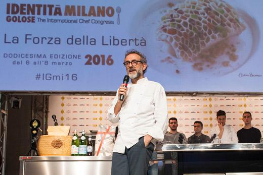 Massimo BotturaonIdentità Milano 2016 stage