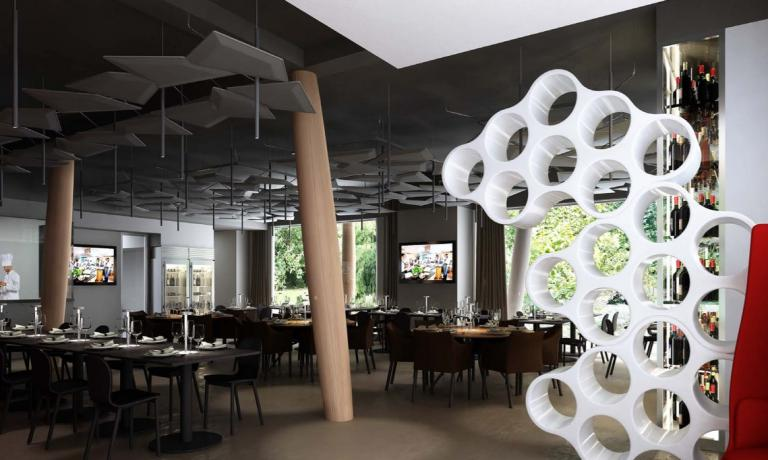The first floor of the Identit� Expo restaurant