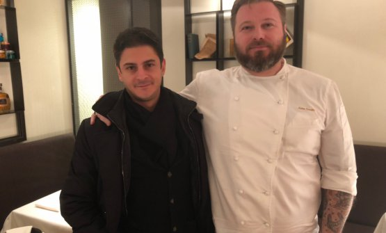 Matteo Torretta with partner/owner Antonio Pianu. There's another partner too, Antonio Zucca