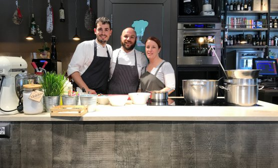 Francesco Vitale, Mauro Ladu, Alessandra Meddi: the trio at  Cucina.eat in Cagliari