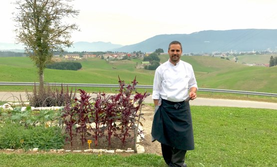 Alessandro Dal Degan, chef-patron at La Tana Gourmet in Asiago