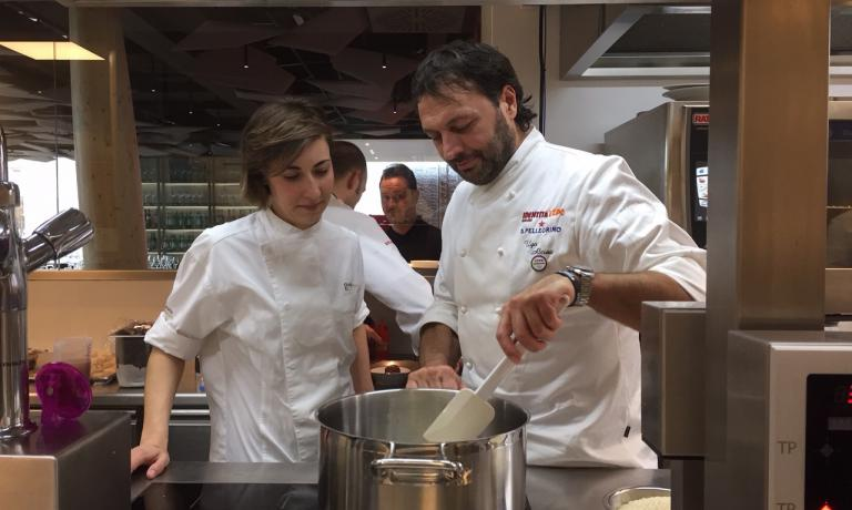 Claudia Innorta and Ugo Alciati of Guido ristorante (+39.0173.626162), and exceptionally at Identità Expo until Sunday