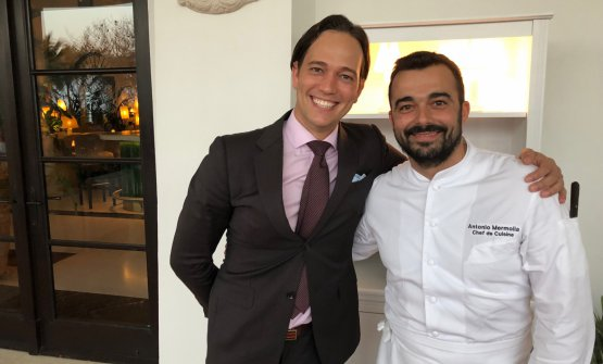 Mermolia with Friulan restaurant manager Dario Vigil