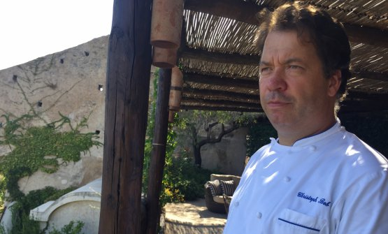 Christoph Bob, born in 1973, at Monastero di Santa Rosa since 2012 after Relais Blu in Vico Equense (Naples) and a long apprenticeship with Heinz Beck in Rome