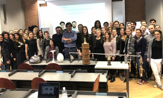Loprioreand Govoniwith the students at Iulm