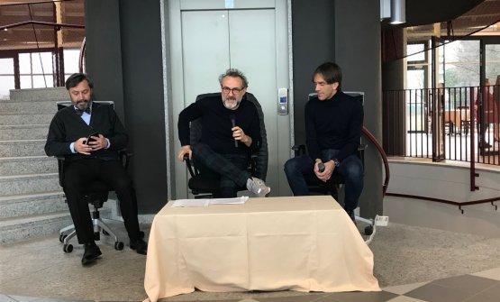 Botturain Cornaredo between school director Luca Azzolliniand Davide Oldani