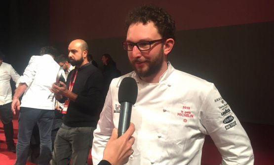 HAT TRICK. Alessio Longhini of Stube Gourmet at hotel Europa in Asiago (Vicenza), Young chef of the year and new-star