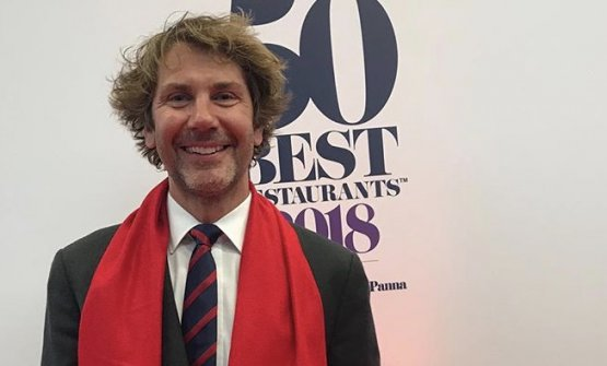 Mehmet Gürs, chef at restaurant Mikla in Istanbul, makes his debut in the World's50Best (at number 44) in Bilbao last Tuesday (photo from instagram)