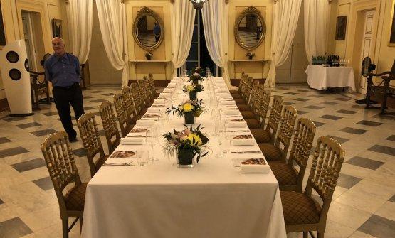 The table set at Verdala Palace