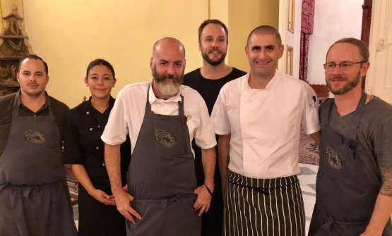 The brigade that cooked a couple of weeks ago at Verdala Palace in Malta. This was a preview of Mark Weingard's restaurant Esenzi, inside Iniala. The resort is to open in January 2019. Tim Butler (third from the left) is the American chef from restaurant Eat Me in Bangkok, 33rd in the 50Best Asia, and at Iniala hotel in Phuket, also in Thailand