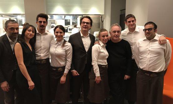 Adriàwith the staff atIdentità Golose Milano