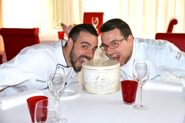 A photo of chefs Alberto Basso and Stefano Leonardi, founders of restaurant 3Quarti in Grancona (Vicenza). Tomorrow, on Friday 13th November, 3Quarti will host the first presentation of LeAlture, an event Basso organised to remember in a festive and positive way, his partner and friend, who suddenly passed away
