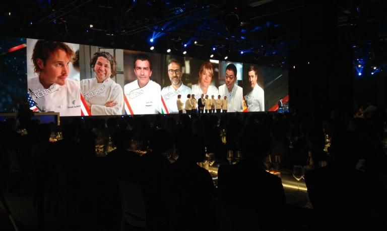 THE ROYAL LINE. The great jury that decided the winner of the S.Pellegrino Young Chef 2015 (photo by Elisa Pella)