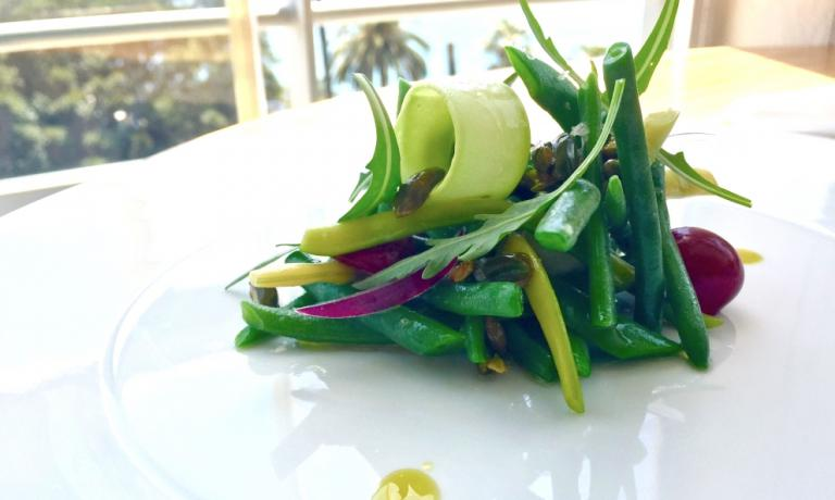 French bean salad by Mauro Colagreco, the author's favourite dish in 2016 (photo by Tanio Liotta)