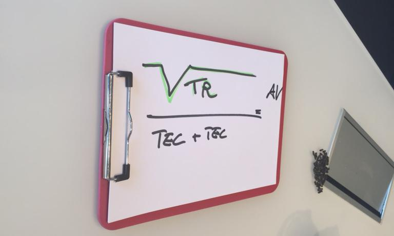 SCABIN'S FORMULA. Creativity (or Avantgarde or Future) = the square root of Tradition divided Technique times Technology