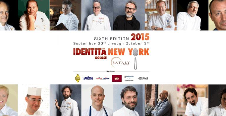All the protagonists of Identità New York 2015, scheduled from September 30th to October 3rd at Eataly NY. Moreno Cedroni, Mario Batali, Andrea Migliaccio, Tony Mantuano, Massimo Bottura, Michael White, Davide Scabin, Fortunato Nicotra, Rita Sodi, Vito Mollica, Mark Vetri, Ugo Alciati, Jonathan Benno, Carlo Cracco, Mark Ladner e Lidia Bastianich