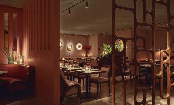 The dining room at Ella Canta