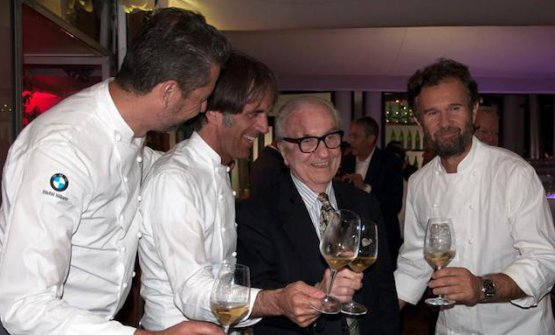 A recent photo of the Maestro with three of his Marchesi Boys: Berton, Oldani and Cracco