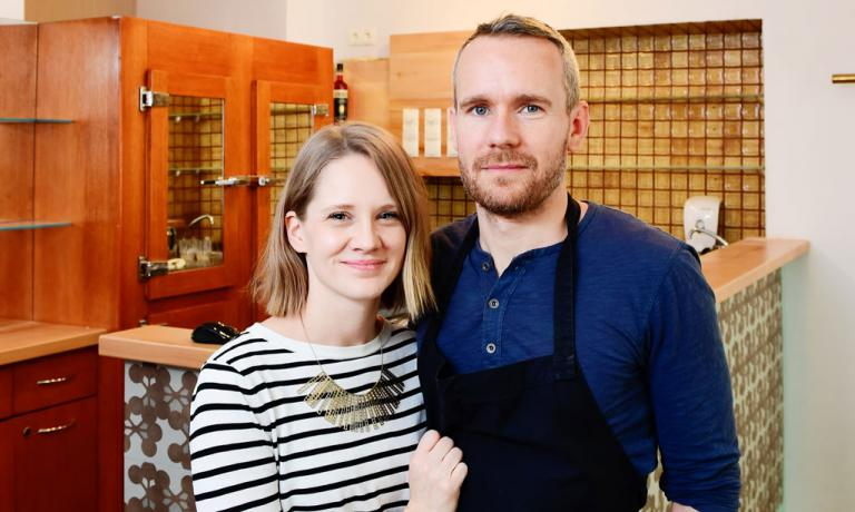Petra and Oliver Lucas, husband and wife. She's in the dining room, he's in the kitchen, and since last June they sign the offer at Grace, the most interesting and hip restaurant in Vienna. Oliver is English and for many years he was the right arm of Heinz Reitbauer, chef at Steirereck, currently number 9 in the World's 50Best (photo credits diepresse.com)