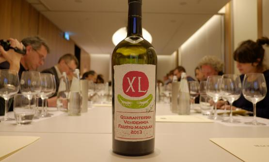 A bottle of XL Quarantesima Vendemmia 2013: it's 100% Cabernet. They made 300 numbered bottles