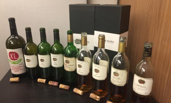Bottles of XL, Fratta and Torcolato tasted during the event in Milan