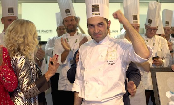 Martino Ruggieri, on the 1st October in Alba when he won the Italian finals of the 2019 Bocuse d'or