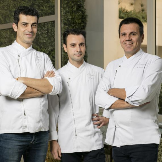 Mateu Casañas, Eduard Xatruch e Oriol Castro (foto Joan Valera)